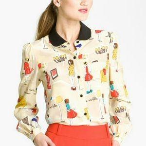 Kate Spade Garance Dore Cocktail Party Blouse
